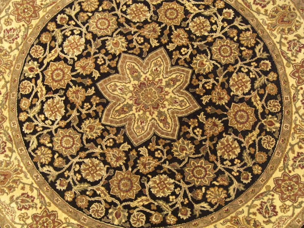 6x6 Beautiful Handmade Round Carpet Agra Wool Rug 1325 Ebay